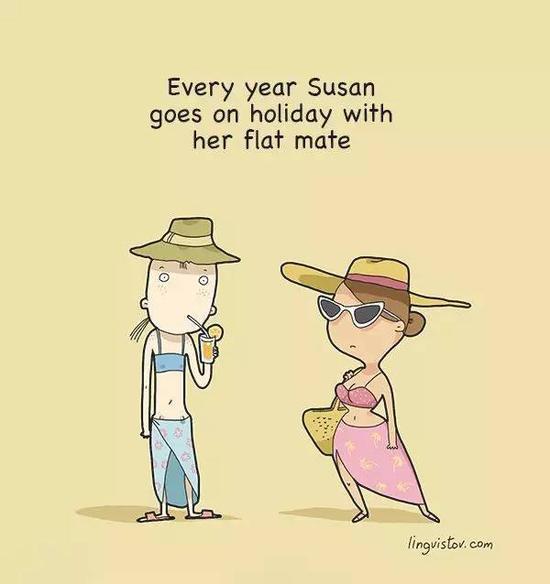 Susan在每年都去旅游
