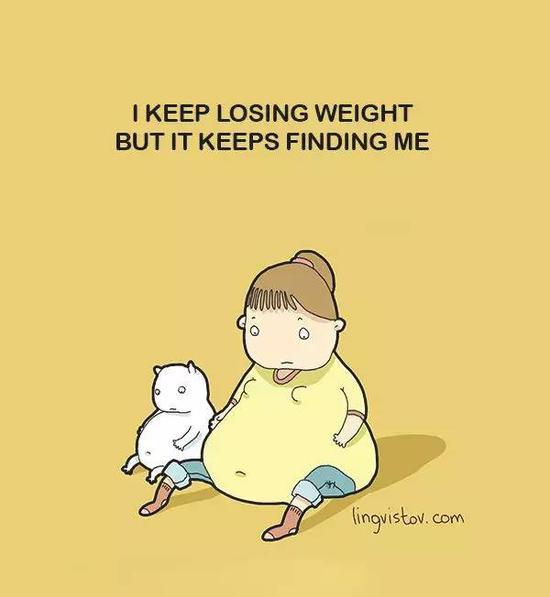 我一直在减肥