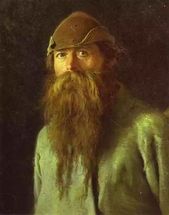 克拉姆斯柯依的肖像画《护林人》