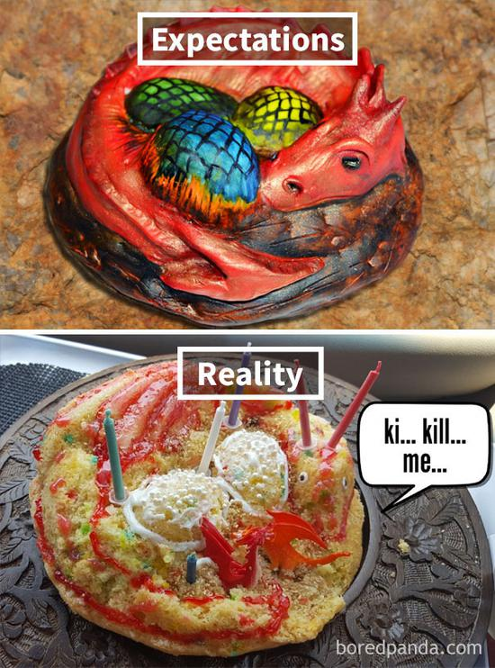 14.My wife made a dragon cake for her mother's birthday.