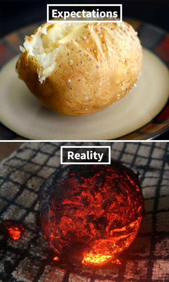 8.I'm no cook but I didn't expect to screw up a baked potato.
