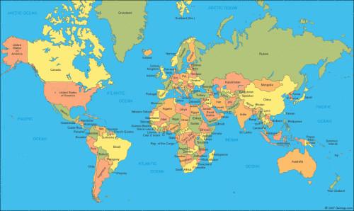 有学生看到新地图后大感惊讶,认为彻底改变了他们对世界地图的印象.