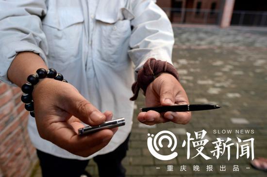 一支普通的钢笔是吕跃的画笔