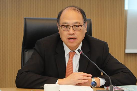 香港理大校董会主席林大辉博士致辞,欢迎河北省政府访问团到访香港理大