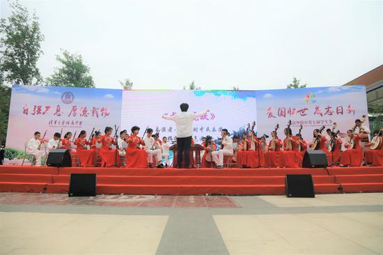 學生節開幕式民樂隊演奏