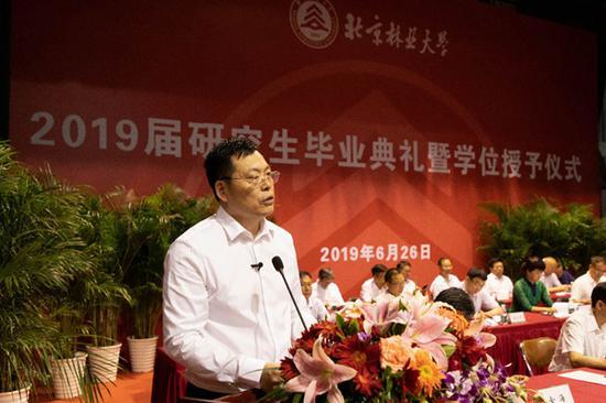 北京林业大学校长安黎哲 (北京林业大学 供图)