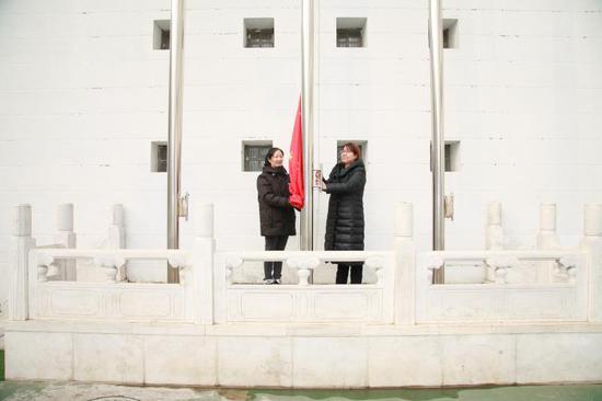 特殊的升旗仪式