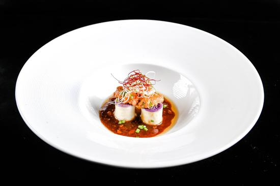 海胆豆酱焗紫茄