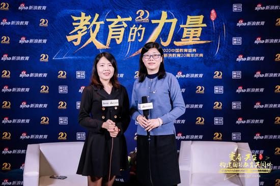 2020新浪教育盛典访谈:北京新东方国际双语学校高薇