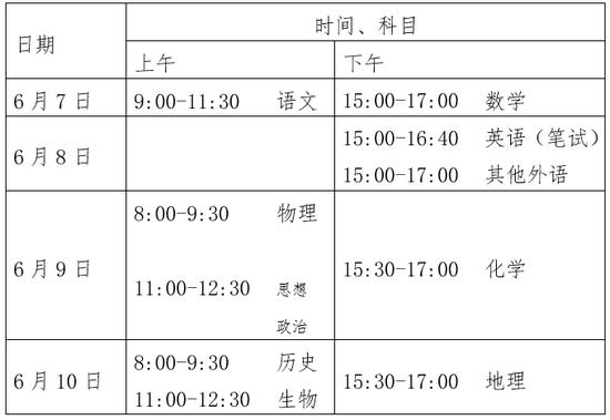 北京2020高考改为四天 本科普通批设30个志愿