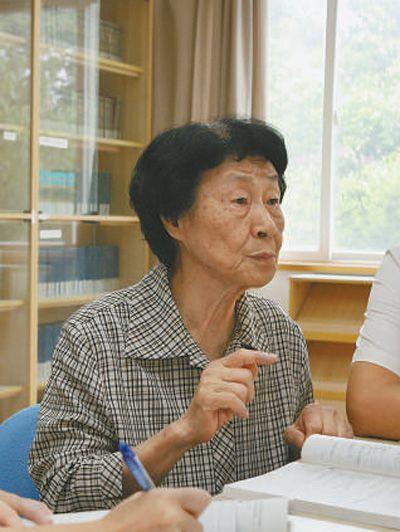 于漪(新华社记者刘颖 摄)