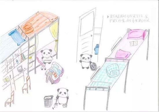 寝室成员按时打扫寝室卫生,爱护寝室环境,及时清理寝室垃圾。