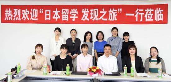 中国媒体记者团走进富士国际语学院