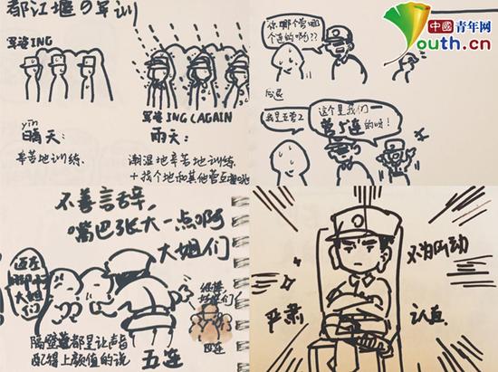 图为梁舒彤的部分手绘作品。中国青年网通讯员 张珑潆 提供
