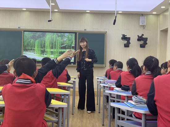 刁荣春老师课堂上
