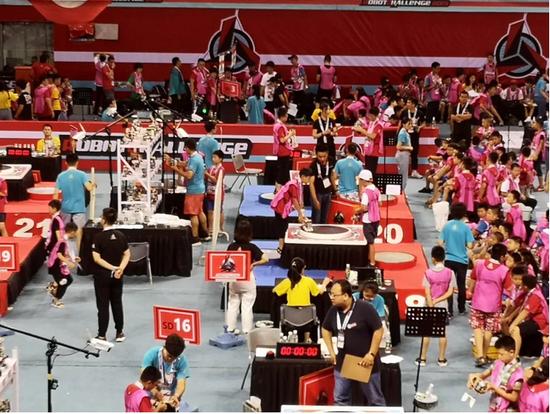 图为Robotchanllenge 2019国际机器人挑战赛现场 豆豆/摄
