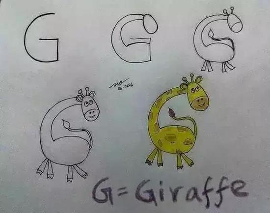 G是长颈鹿