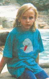 普京的女儿玛莎小的时候。