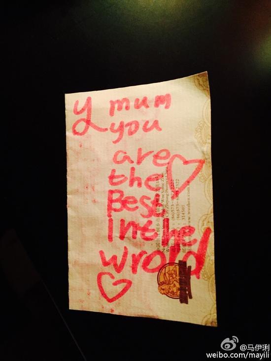 文爱马给妈妈的情书