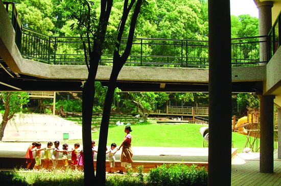 图为台湾道禾实验学校场景