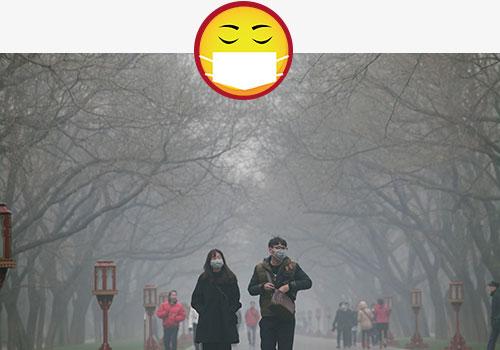有关雾霾的剪贴画
