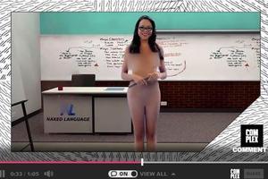 西班牙奇葩女老师:近乎全裸录制在线授课