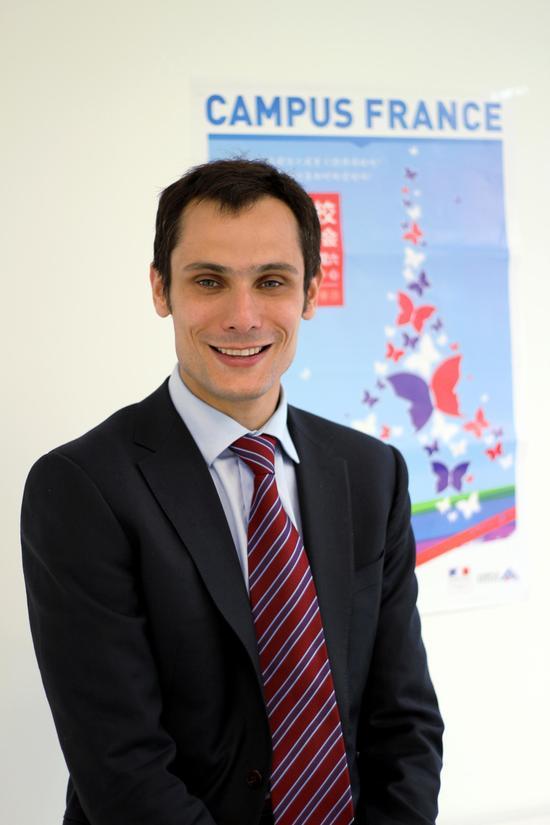 法国驻华大使馆高等教育合作副专员-法国高等教育署中国总协调欧杰先生