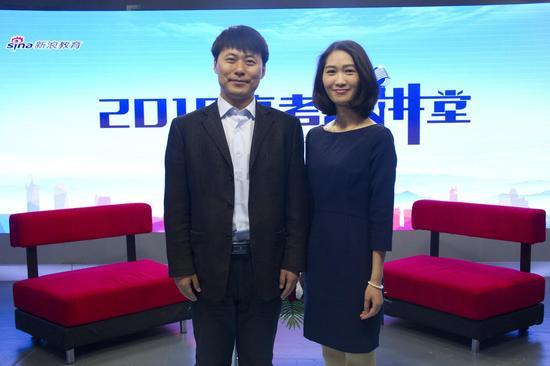 天津大学招办主任谷钰老师(左)