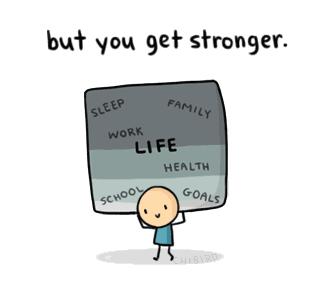 生活总是很残酷,但却让你变得更坚强。