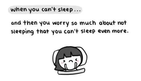 失眠的时候,要放松、放松、放松,胡思乱想反而更睡不着。