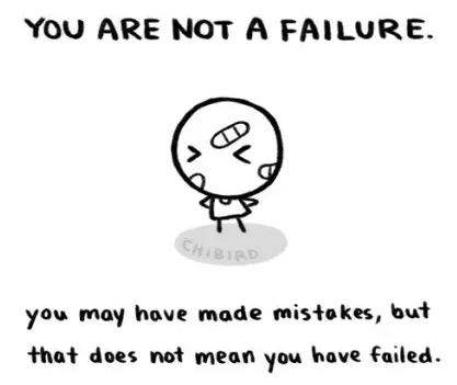 你可能会犯错,可并不意味着你是个失败的人。