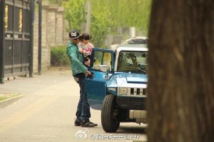 陈晓东与女儿朵朵