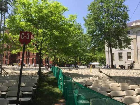 32000张椅子,被密密麻麻地分区摆放