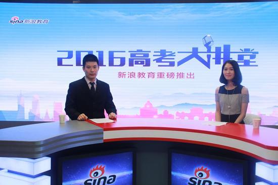 华中科技大学招办主任陈瑞学(左)