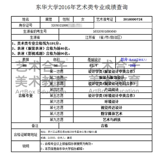 东华大学2016成绩查询