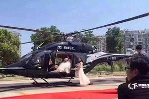 上海土豪直升机迎亲造成交通堵塞(双语)