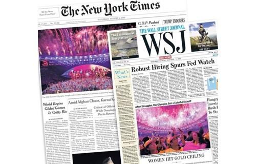 里约奥运开幕式收获媒体一致赞誉