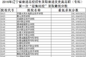 2016湖南高职专科平行一志愿投档分数线
