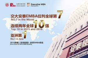 2016全球EMBA排名出炉:交大安泰EMBA全球第七
