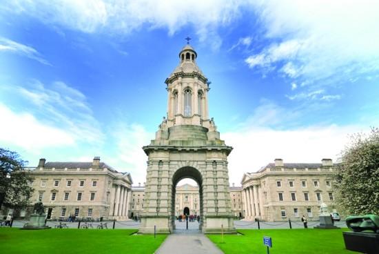 被誉为爱尔兰最好大学的都柏林圣三一学院