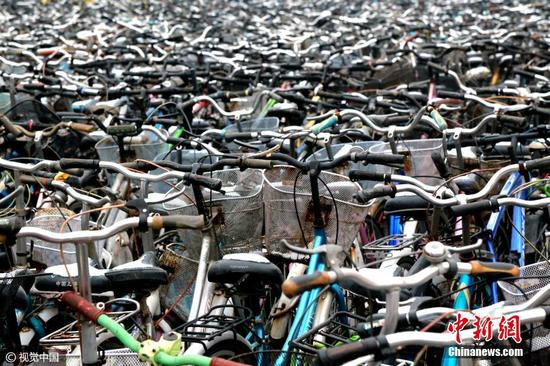 大学清理数千辆自行车