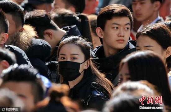2017年2月17日,北京电影学院艺考复试开始。图片来源:视觉中国