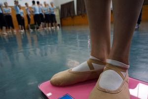 舞蹈系开学第一课称体重 超重罚跑10圈(图)