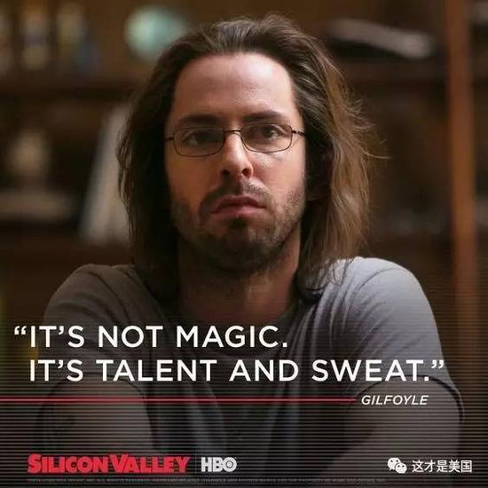 这不是奇迹,而是天赋加汗水。——《硅谷》台词