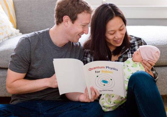 Facebook创始人扎克伯格给女儿读《宝宝的量子物理学》