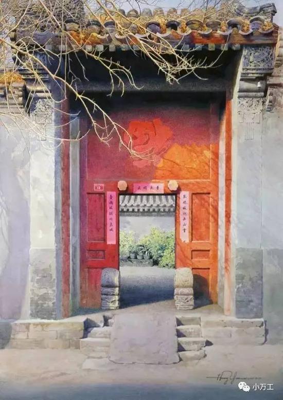 图片来自网络,黄有维的水彩画《你记忆里的故乡》
