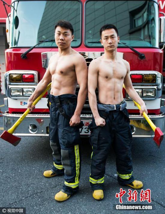血脉贲张!杭州90后消防战士秀肌肉