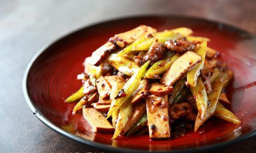 教你做好吃的家常菜:豆干芹菜