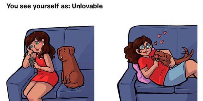 趣味漫画:你眼中的自己VS狗狗眼中的你