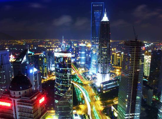 上海金融中心夜景